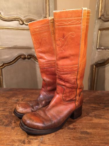 Vintage Frye Tall Campus Engineering  Riding Boots Mens Size 11 D 1960's !!!!