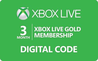 Xbox Live Gold 3 month Membership Subscription for Xbox One/Xbox 360