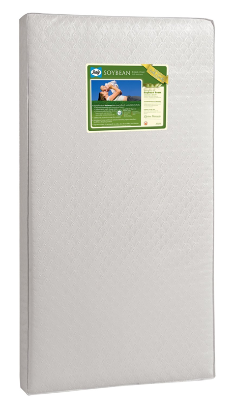 NEW Sealy Soybean Foam-Core Infant/Toddler Crib Mattress Hypoallergenic Bed Baby