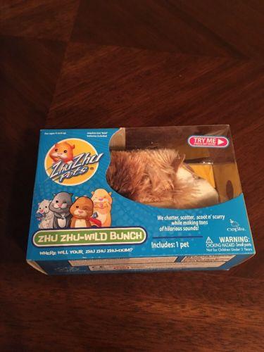 Zhu Zhu Pets Hamster Toy ZuZu Chatter Scatter Hilarious Sounds Zu 2009 Cepia 4+