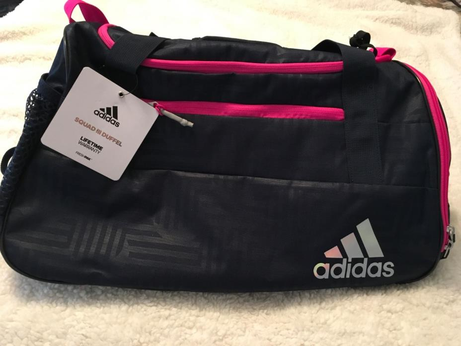 ADIDAS WOMEN'S TRAINING SQUAD III DUFFEL/GYM BAG - NEW