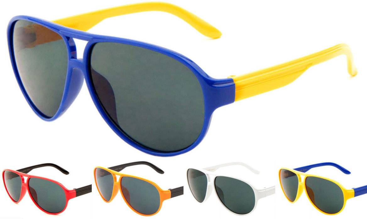 Lot of 12 Pair Kids Aviator Sunglasses with Super Dark Lens Assorted Color