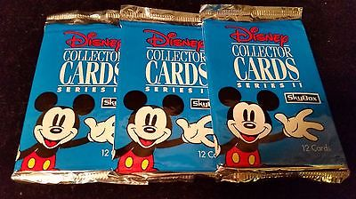 1992 SKYBOX DISNEY COLLECTOR CARDS SERIES II LOT OF (3) UNOPENED PACKS