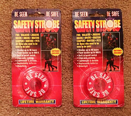 2 Reflective Clip-On Safety Strobe Lights for Joggers, Campers, Boaters, Pets
