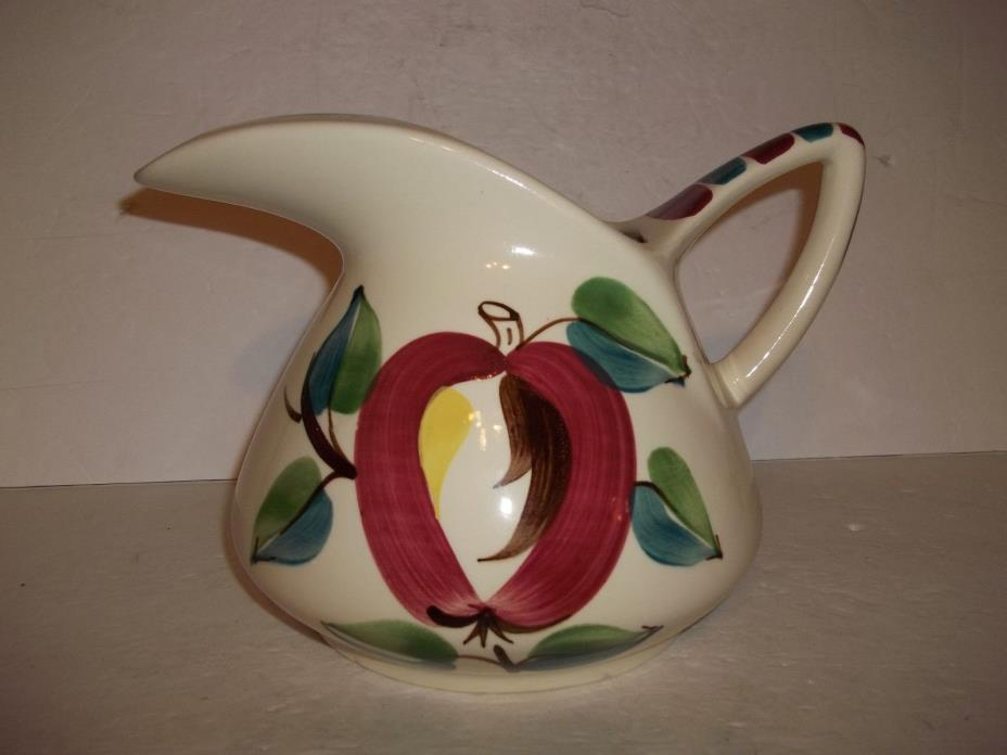 Vintage 1950s Purinton Slip Ware Earthenware Large Pitcher Toucan Spout Apple