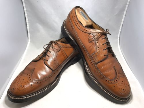 11 EEE Florsheim Imperial Brown Leather Wingtip 5 Nail VCleat Wingtip Blucher 63