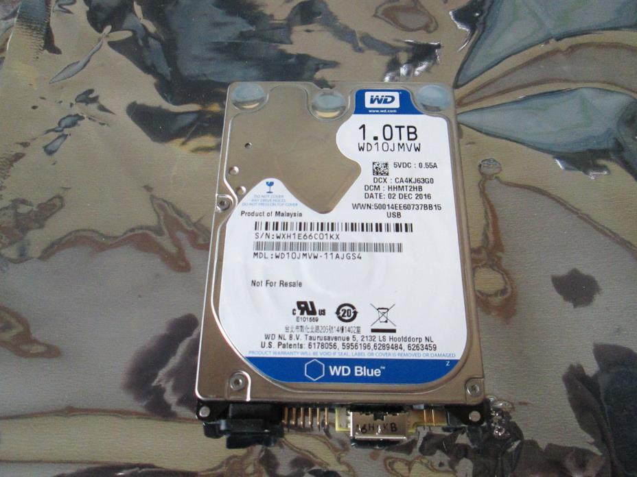 NEW, WD10JMVW-11AJGS4, DCM HHMT2HB, Western Digital 1TB USB 2.5 Hard Drive