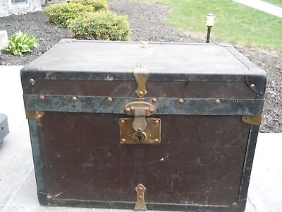 antique chest trunk small 11