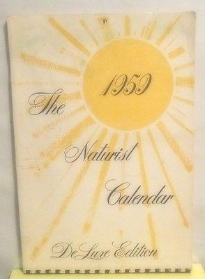 1959 VINTAGE NATURIST DELUXE EDITION CALENDAR