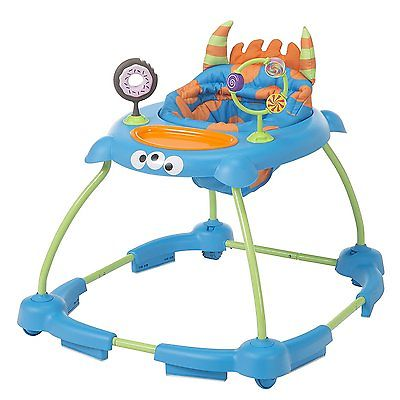 Cosco Simple Steps Adjustable Height Walker with Interactive Toys, Monster Syd