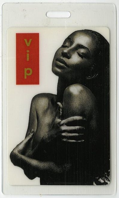 Sade authentic 1993 concert Laminated Backstage Pass Love Deluxe Tour rare VIP
