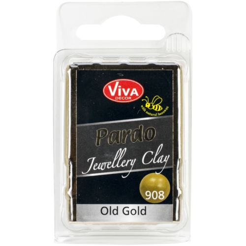 Viva Decor PARDO-90860 PARDO Jewelry Clay 56g-Old Gold (6Pk)