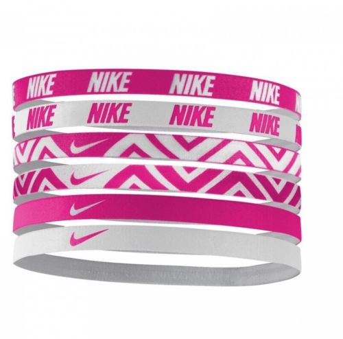 Nike Headband Set 6 Pack, Pink/White Assorted, New In Original Packaging