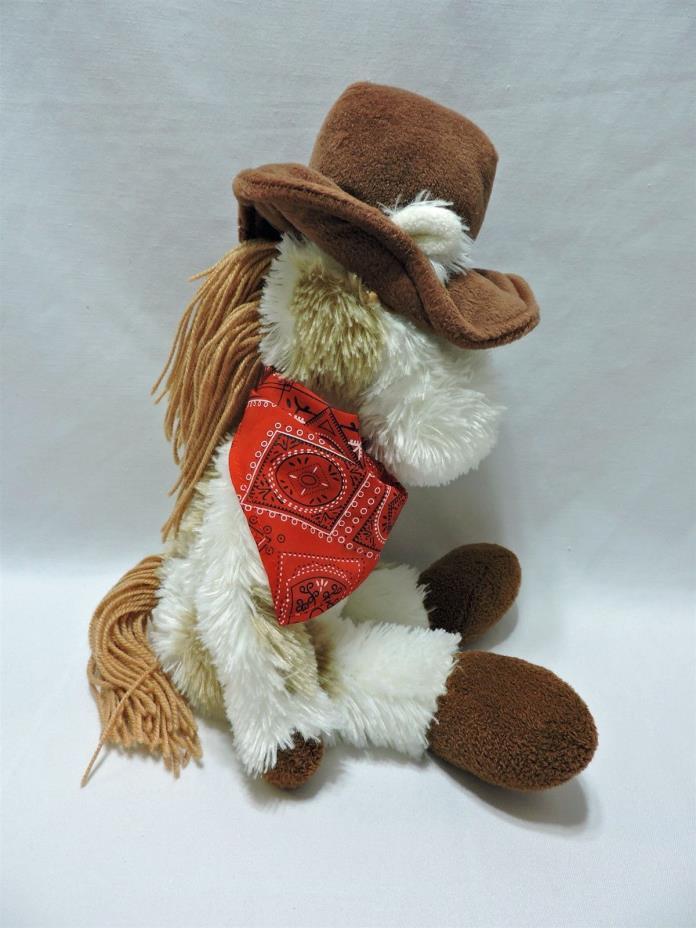 First & Main Horse Pony Plush Stuffed Animal Cowboy Bandana 16