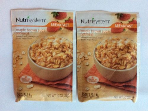 nutrisystem breakfast (2) Maple Brown Sugar Oatmeal (2/16/18)