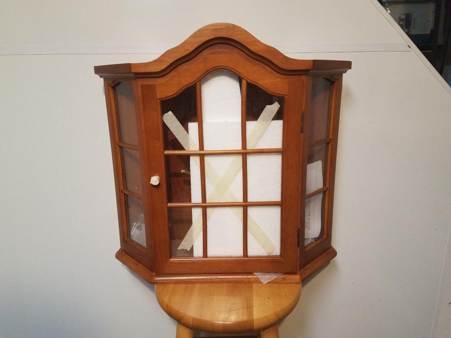 Ayden Wooden Wall Curio Cabinet ( GRAND NEW )