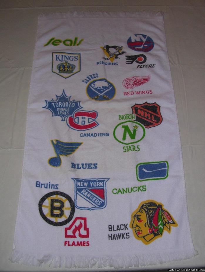 National Hockey League circa 1973 textiles