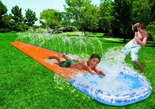 NEW* Banzai Speed Blast Water Slide (18FT LONG Ages 5-12) summer fun