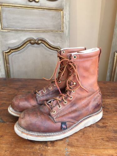 VTG Thorogood Men's Chukka Engineering Mountaineering Work Boots Brown Size 8.5