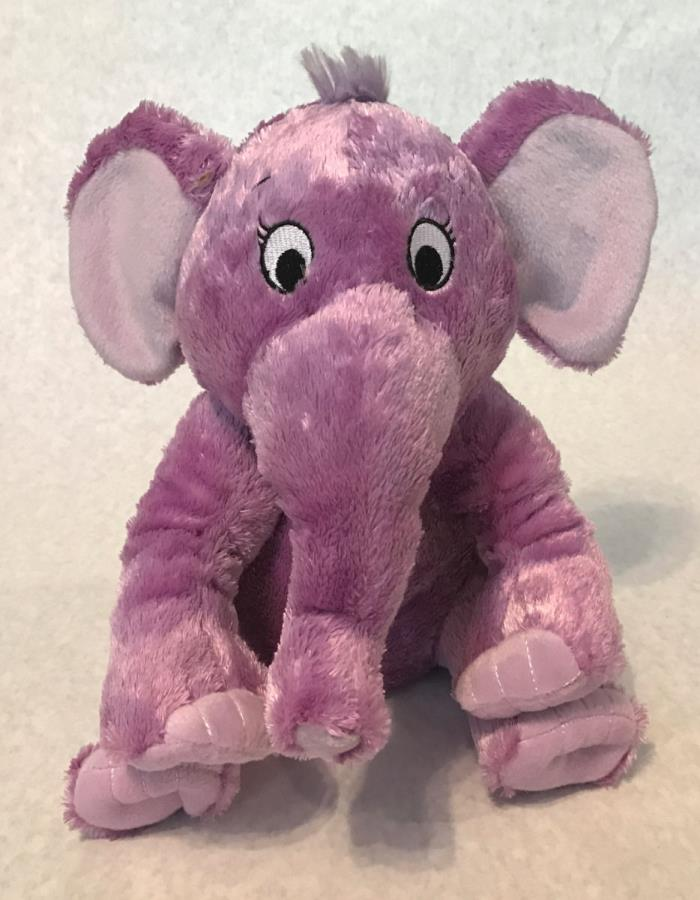 KOHL'S Cares for Kids PURPLE ELEPHANT Stuffed DR SEUSS The NOSE BOOK Plush  (80)