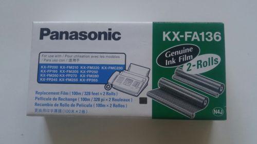 NIB Genuine Panasonic KX-FA136 Fax Toner / Replacement Ink Film (2 Roll Pack)