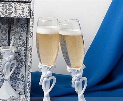 Bride & Groom Wedding Toasting Flutes