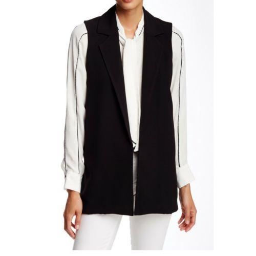 Black Notch Lapel Vest, Size M Necessary Objects NWT