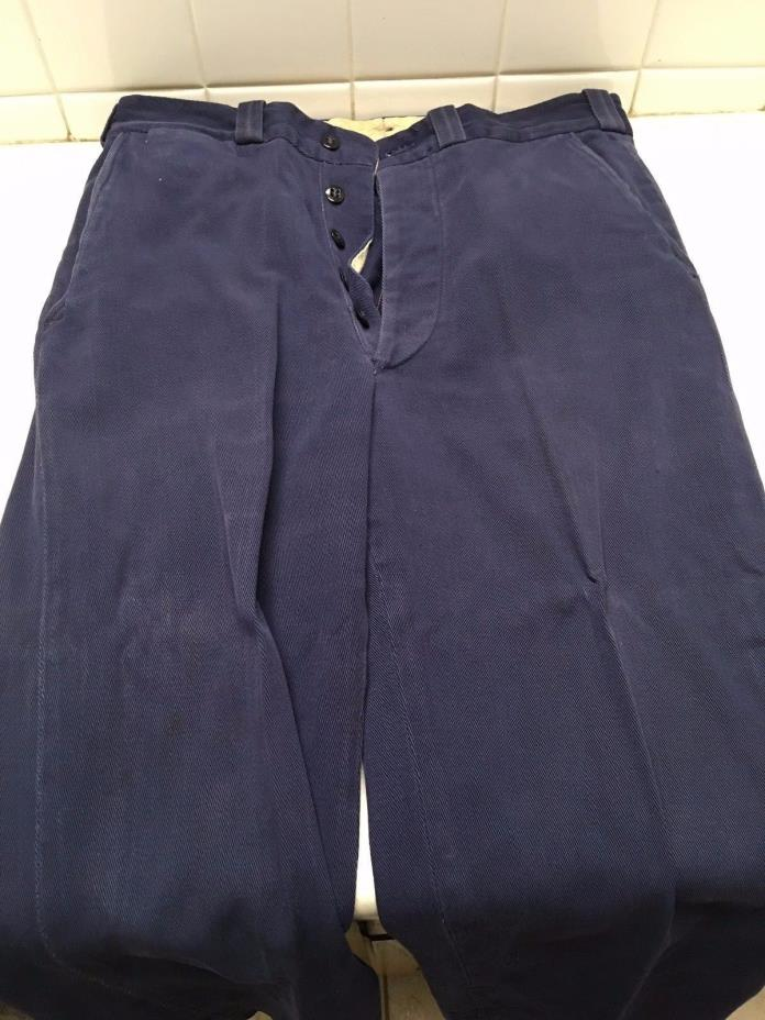 Vintage Burlington Union Made Blue Work Pants - Kansas City