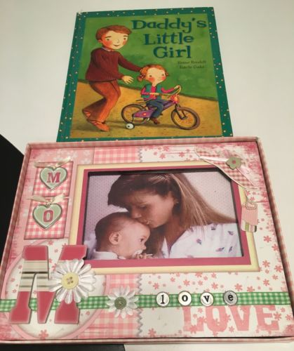 Mom Dad And Baby Girl Daughter Picture Frame 4x6 And Daddy's Little Girl Book