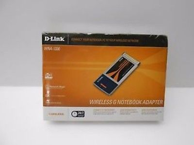 DLink WNA 1330 Wireless G Notebook Adapter Card 802.11g 54Mbps -NIB