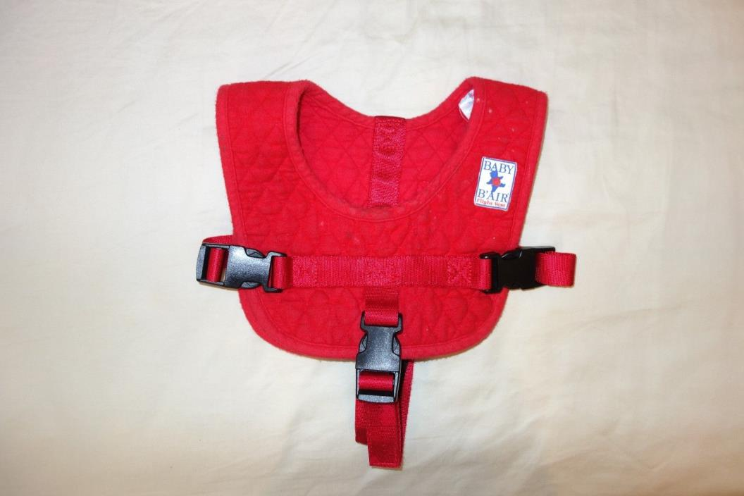 Baby B'Air Red Toddler Airplane Flight Safety Vest Harness
