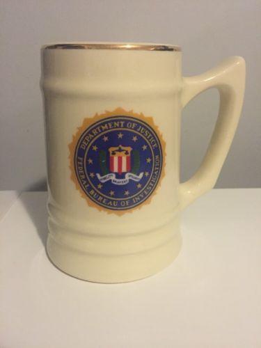 Department Of Justice FBI Federal Bureau Of Investigations Mug Stein