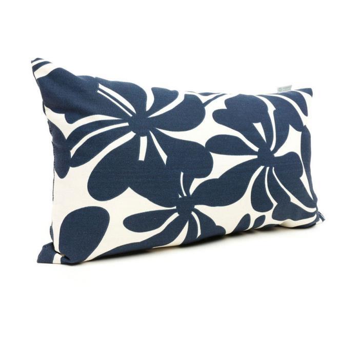 Blue Plantation Floral Rectangular Outdoor Decorative Pillow Home Decor Living