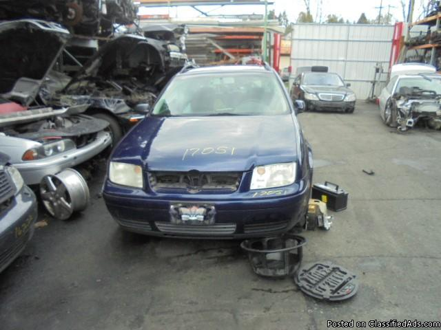 Parting out - 2003 VW Jetta - Blue - Parts - Stock 17051