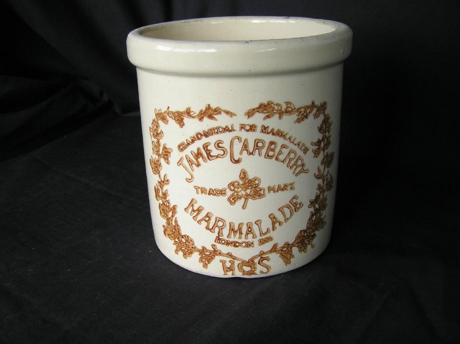 James Carberry Marmalade Stoneware Crock 1/4 Gal 5.5