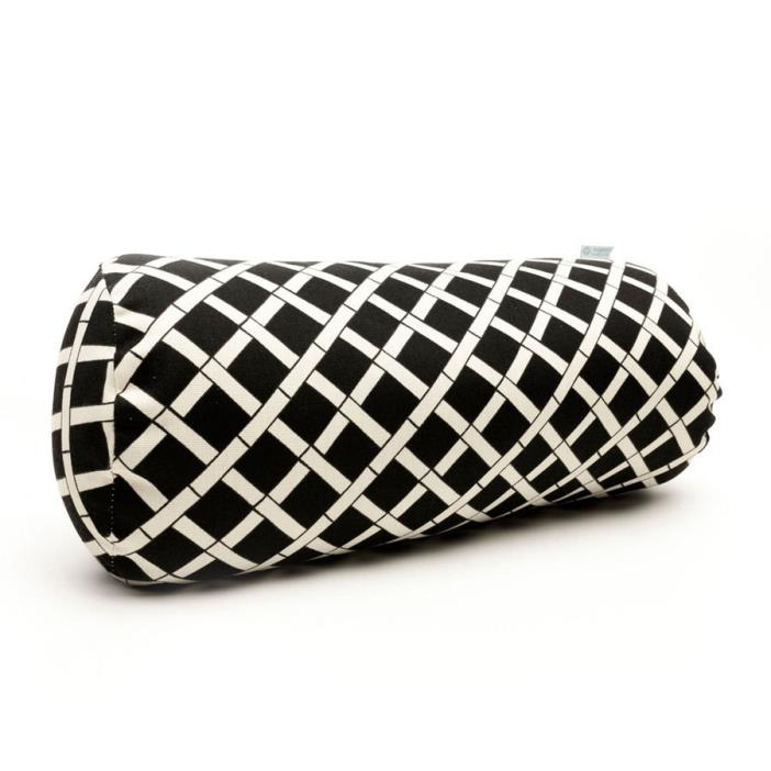 Black Bamboo Geometric Bolster Outdoor Decorative Pillow Home Bed Decor Living