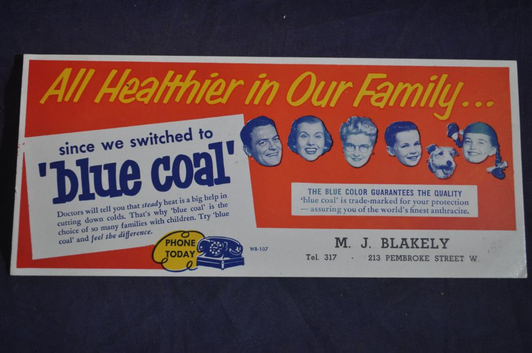 Blue Coal Blotter - A Healthier Family