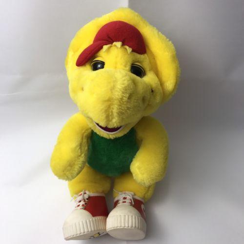 Vintage BJ Barney Plush Toy Stuffed Dinosaur Vtg 1994 Baby Bop Barney BJ