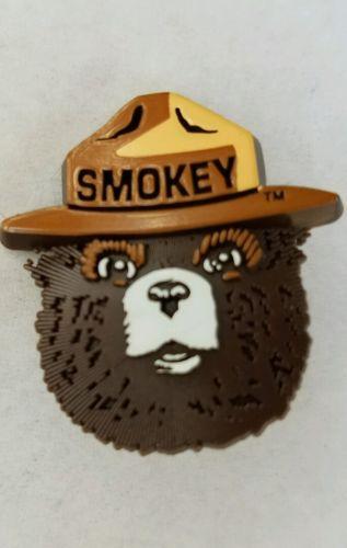 Vintage Original SMOKEY THE BEAR PINBACK PIN Badge Button 1990s Ranger Hat NOS