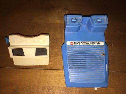 Vintage 1970s Talking View Master Electronic Lighted Stereo Viewer & View Master
