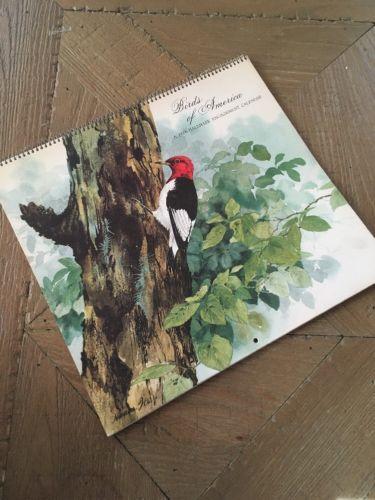 Birds Of America Hallmark 1976 Vintage Calendar