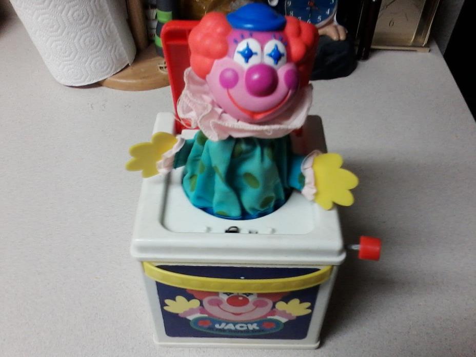 Vintage 1987 Mattel Jack in the Music Box Clown Pop Goes The Weasel Works