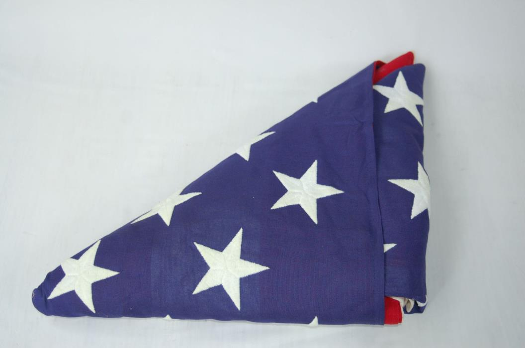 LARGE 5X9 US 50 STAR AMERICAN FLAG - VALLEY FORGE CO. COTTON FLAG