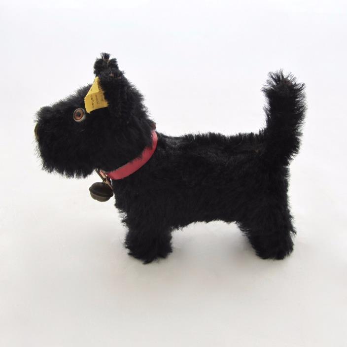 Vintage Steiff Scotty Scottish Terrier Standing #1310 Pendant Tag Button Tag