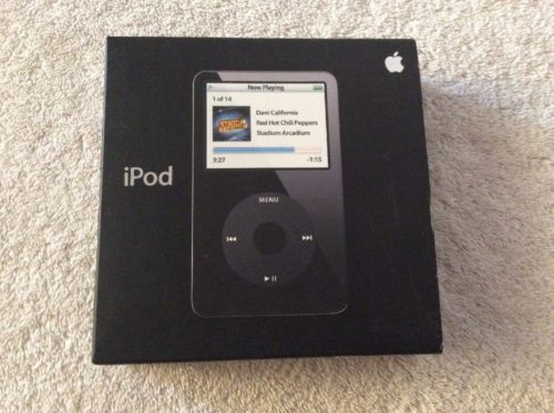 Box ONLY For Apple iPod A1136 Black 30GB MA146LL/A