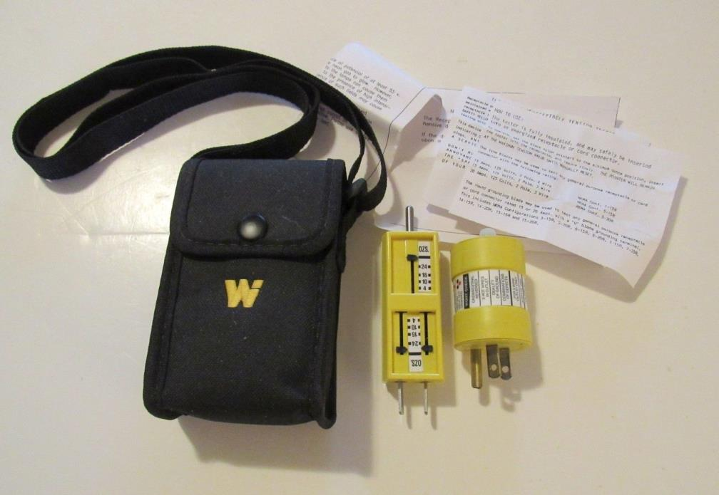 Woodhead 1770 Receptacle Tension Tester / Circuit Tester Combo Kit