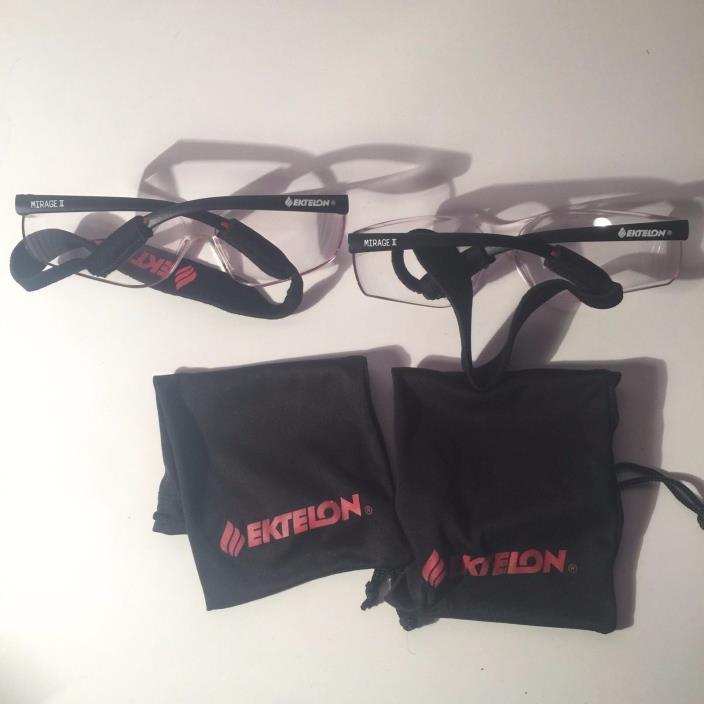Ektelon Mirage Racketball Glasses 2 Pairs Eyewear FREE SHIPPING