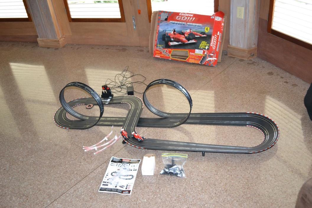 Carrera GO Ferrari Racing 1:43 Large Scale Slot Car Racing Set 60809 Used Workin