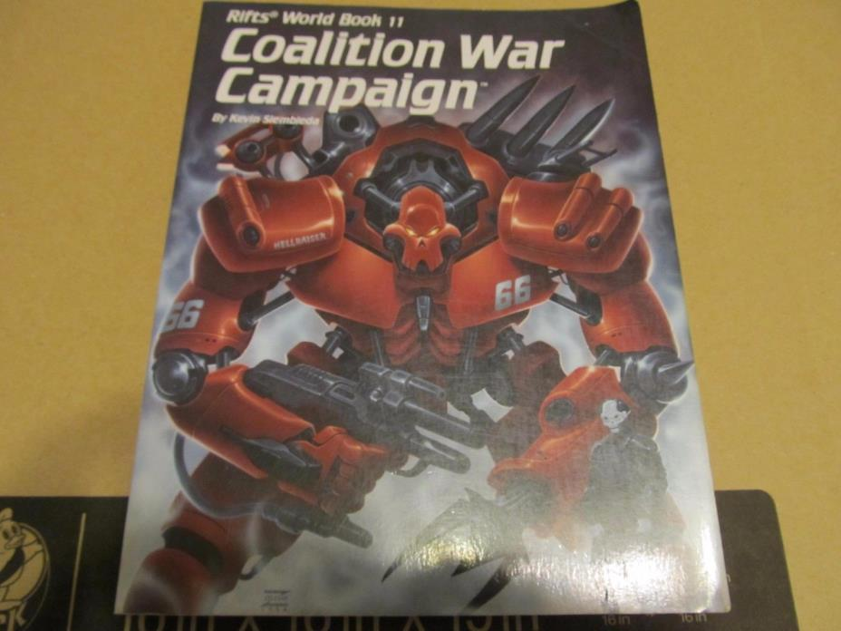 Palladium: Rifts: World Book 11: Coalition War Campaign First Printing
