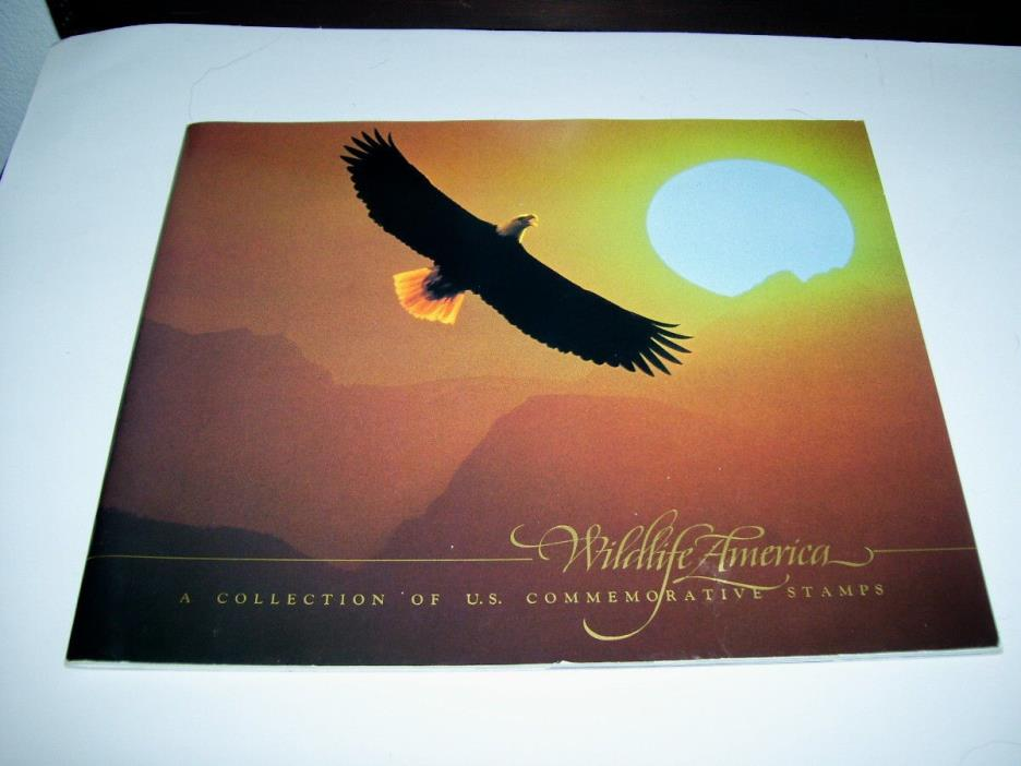 Wildlife America Stamp Album with 50 Stamps